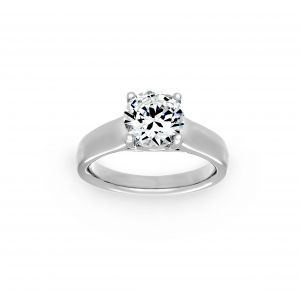 Ritani Classic Wide Solitaire Engagement Ring
