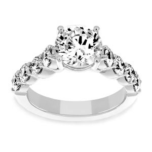 Martin Flyer Diamond Shank Engagement Ring