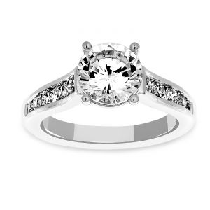 Martin Flyer Engagement Ring With Channel Set Diamonds