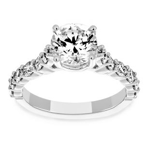 Martin Flyer Shared Prong Diamond Engagement Ring Mounting