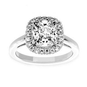 Martin Flyer Cushion Diamond Halo Engagement Ring
