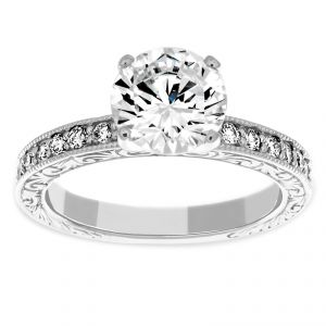 Penny Preville Audrey Round Solitaire Diamond Engagement Ring