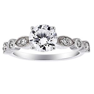Penny Preville Round Marquise Solitaire Engagement Ring