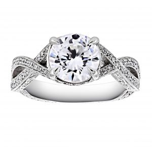 Penny Preville Aphrodite Braided Diamond Solitaire Engagement Ring