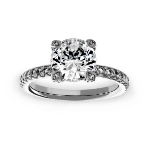 Michael B. Diamond Prong Round Solitaire Engagement Ring