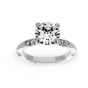 Michael B. Crown Lace Diamond Engagement Ring