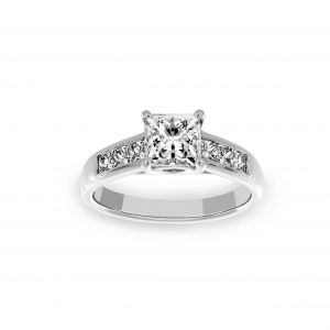 Ritani Princess Cut Channel Set Engagement Ring