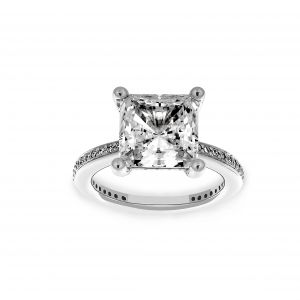 Ritani Princess Cut Micro-Pave Channel Set Engagement Ring