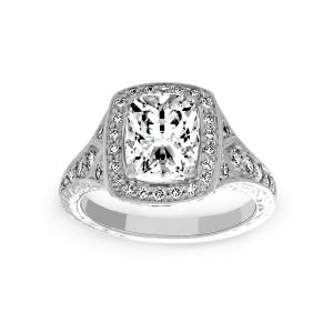 Penny Preville Josephine Cushion Cut Diamond Halo Engagement Ring