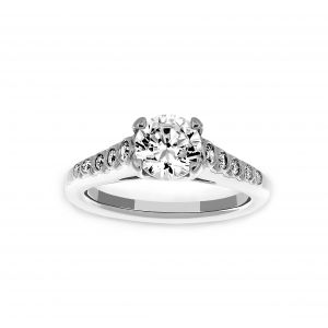 Ritani Four Prong Bezel Set Diamond Engagement Ring