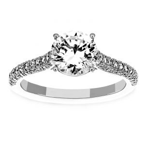 Martin Flyer Four Prong Diamond Engagement Ring