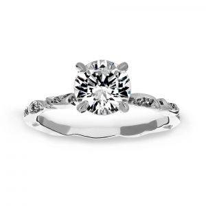 Michael B. Lily Of The Valley Engagement Ring