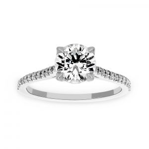 Michael B. Royal Paris Round Solitaire Engagement Ring