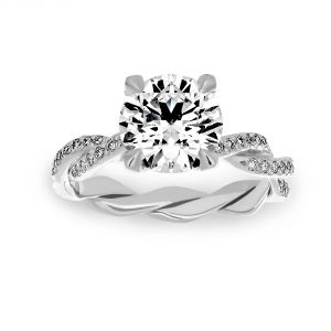 Michael B. Pave Diamond Infinity Engagement Ring