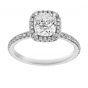 TWO by London Square Halo Cushion Diamond Engagement Ring