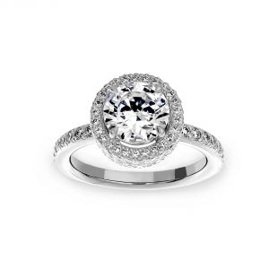 Michael B. Trois Round Engagement Ring