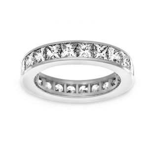 TWO by London Princess Cut Diamond Channel Eternity Band