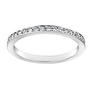 TWO by London Thin Diamond Milgrain Eternity Band