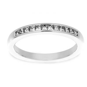 Martin Flyer Princess Cut Diamond Wedding Band
