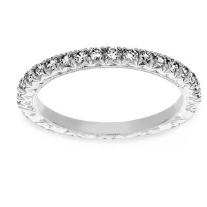 Martin Flyer Diamond Engraved Wedding Band