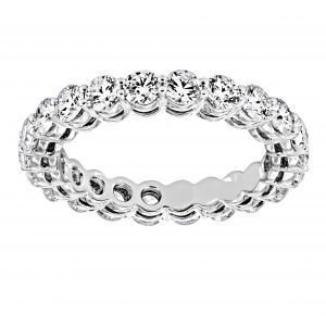 Martin Flyer Two Plus Carat Shared Prong Round Diamond Eternity Band