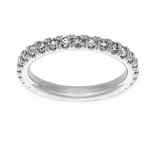 Martin Flyer One Carat Micro Pave Diamond Eternity Band