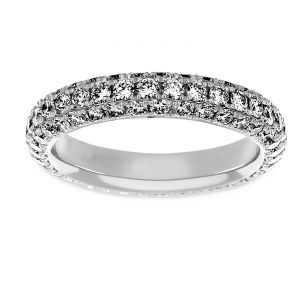 Martin Flyer Bombe One And Half Carat Diamond Eternity Band