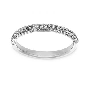 Martin Flyer Comfort Fit Bombe Diamond Eternity Band