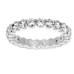 Martin Flyer Round Diamond Shared Prong Eternity Band