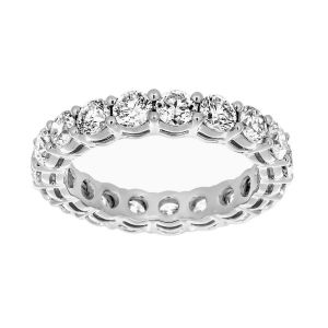 Martin Flyer Shared Prong Round Diamond Eternity Band