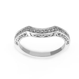 Penny Preville Curved Diamond Wedding Band