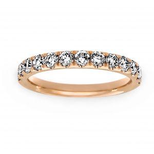 Henri Daussi Light Pink Diamond Wedding Band