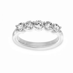 Martin Flyer One Carat Five Stone Shared Prong Wedding Band