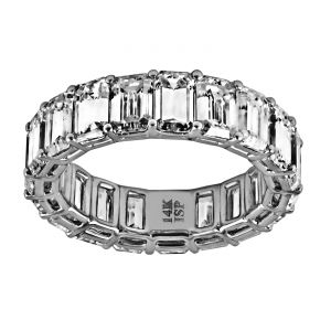TWO by London Emerald Cut Diamond Eternity Band