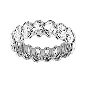 TWO by London Oval Cut Diamond Eternity Band