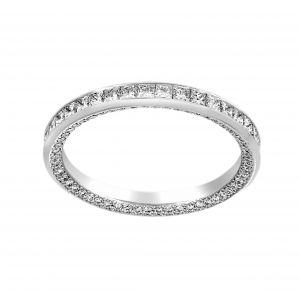 Michael B. Princess Cut Paris Diamond Pave Wedding Band