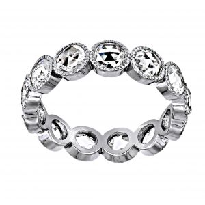 Single Stone Gabby Rosecut Diamond Eternity Band