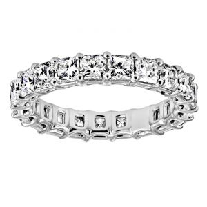 TWO by London Shared Prong Radiant Diamond Eternity Band