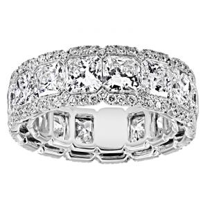 TWO by London Radiant Diamond Micro-Pave Halo Eternity Band