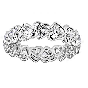 TWO by London Heart Shaped Diamond Eternity Band