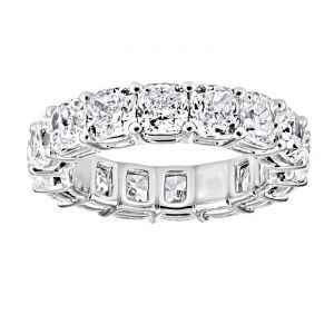 TWO by London Cushion Diamond Shared Prong Eternity Band