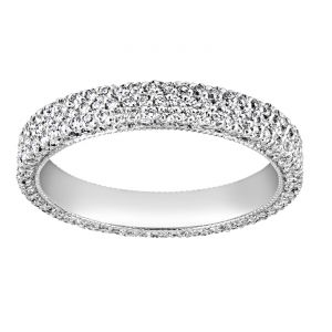 TWO by London Five Row Micro-Pave Diamond Eternity Band