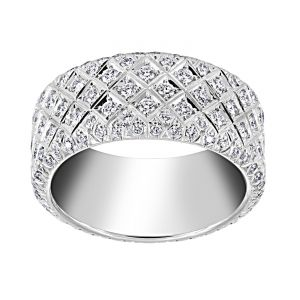 TWO by London Basket Weave Diamond Eternity Band