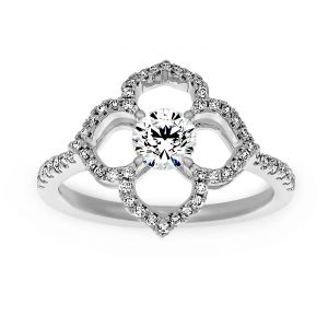 TWO by London Diamond Lotus Engagement Ring