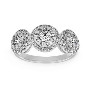 Forevermark Three Stone Diamond Bouquet Ring