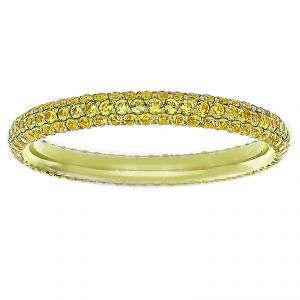 TWO by London Three Row Yellow Sapphire Pave Eternity Band