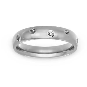 Benchmark Polished Diamond Eternity Band