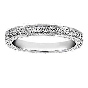 Penny Preville Engraved Pave Diamond Wedding Band