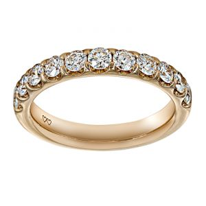 TWO by London Rose Round Diamond Wedding Band