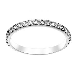 TWO by London Round Diamond Shared Prong Wedding Band